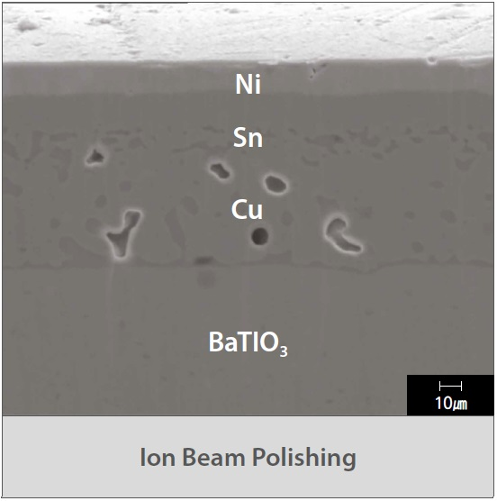 ion beam polishing surface detail at high magnification