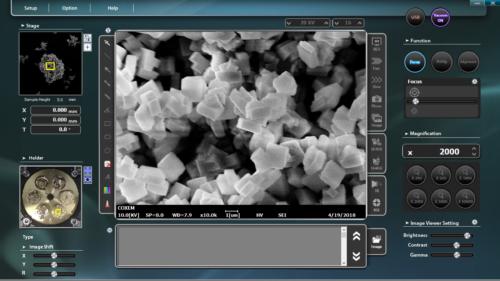NanoStation Software User Interface for EM-30 Desktop Scanning Electron Microscope