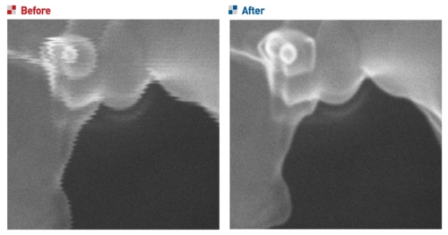 Vibration before and after Isolation